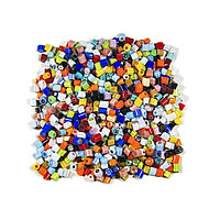Стеклянные пластины MILLEFIORI COE104, смешанные d=3-4 мм 100г.