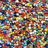 Стеклянные пластины MILLEFIORI COE104, Смешанные d=2-3мм, 100г.