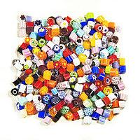 Стеклянные пластины MILLEFIORI COE104, Прозрачные, Смешанные d=5-6мм, 100г.