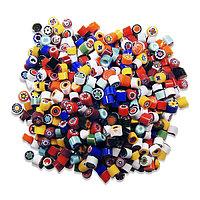 Стеклянные пластины MILLEFIORI COE104, Опаловые, Смешанные d=5-6мм, 100г.