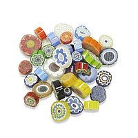 Стеклянные пластины MILLEFIORI COE104, смешанные d=15-20мм., 200г.