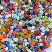 Стеклянные пластины MILLEFIORI COE104, Прозрачные, Смешанные d=4-5мм, 100г.