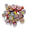 Стеклянные пластины MILLEFIORI COE104, Опаловые, Смешанные d=15-20мм, 200г.