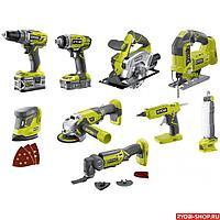 R18CK9-252S 18В комбинированный набор из 9 инструментов Riobi