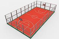 Строительство крытых баскетбольных площадок (28м х 15м = 420 м2)