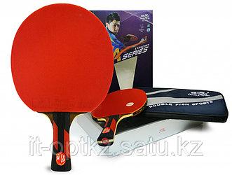 Ракетка для настольного тенниса DOUBLE FISH - 7А-С с чехлом (ITTF)
