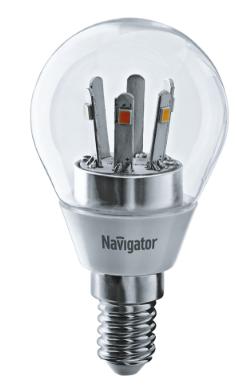 Лампа NLL-G45-5-230-2.7K-E14-CL 71 294 Navigator
