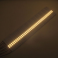 Светодиодная алюминиевая полоса SMD 7020 теплая, фото 1