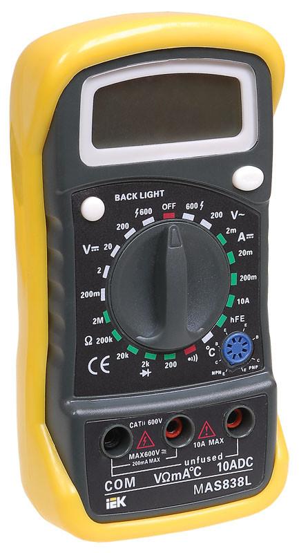Мультиметр цифровой MASTER MAS838L