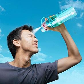 Спортивная бутылка для воды с распылителем. Черная Пятница!, фото 2