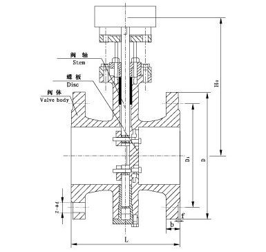 Затвор чугунный фланцевый с редуктором Ду 150 Ру 16 (КНР), фото 2