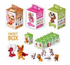 СВИТБОКС  ПУШИСТИКИ Мармелад с игрушкой в коробочке (виды: котята, щенята, пони) 10шт-упак