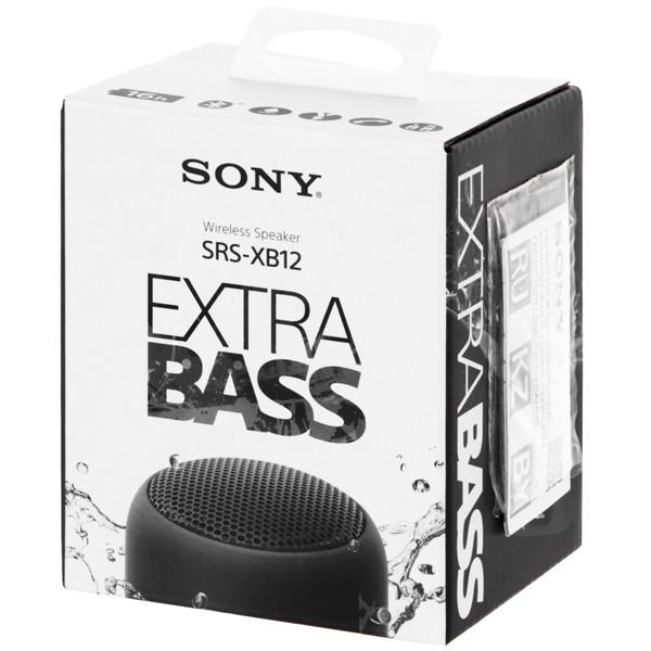 Беспроводная колонка Sony SRSXB12 (Black) - фото 3