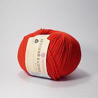 Пряжа Детский каприз Пехорка( 50% меринос, 50 % фибра) красный