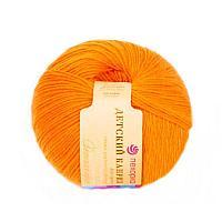 Пряжа Детский каприз Пехорка( 50% меринос, 50 % фибра) оранжевый