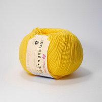 Пряжа Детский каприз Пехорка( 50% меринос, 50 % фибра) желток