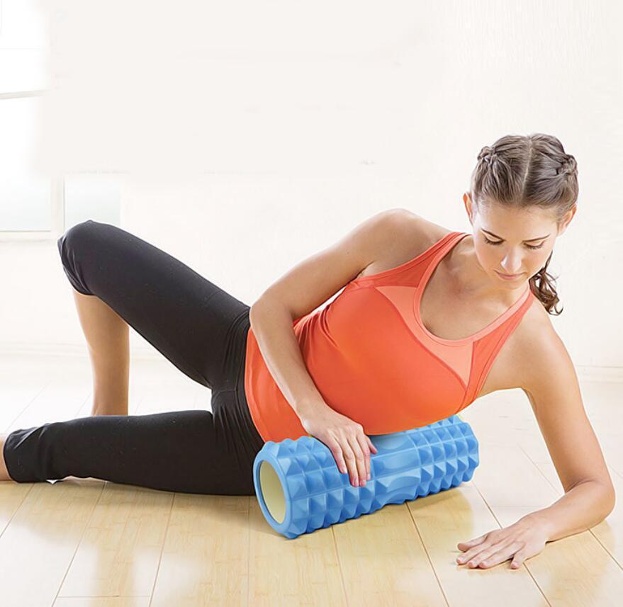Массажный валик (ролик) для фитнеса и йоги 45 см - фото 2