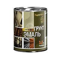 Грунт-эмаль 3в1 коричневая Радуга 0,9кг