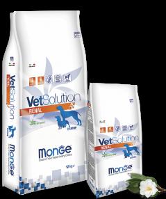 Корм беззерновой Monge VetSolution Renal при почечной недостаточности у собак - 12 кг