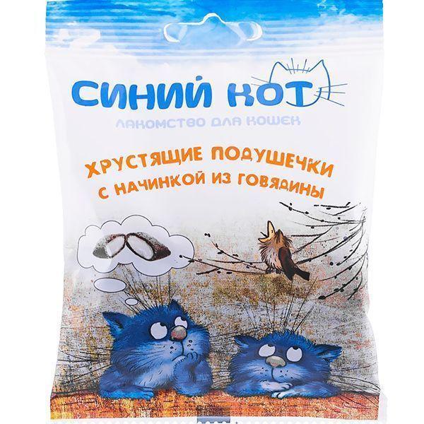 Хрустящие подушечки Синий Кот для кошек с паштетом (Говядина), TitBit - 30 г