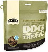 Лакомство из селекционной свинины и мускатной тыквы для собак, Acana Yorkshire Pork treats - 35 г