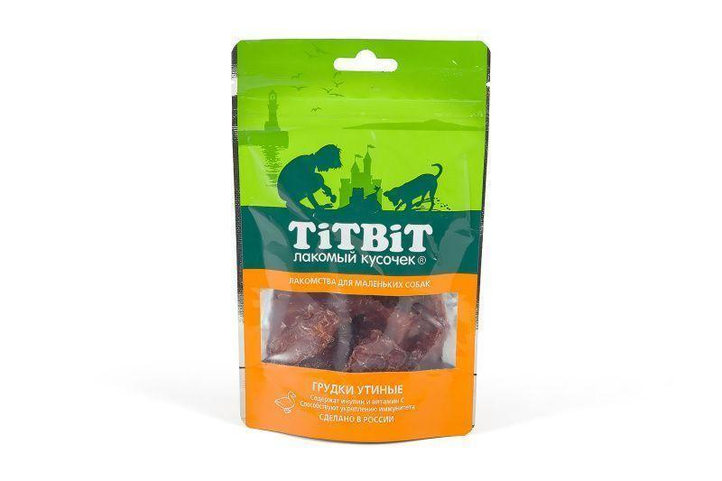 Грудки утиные с витамином С и инулином для маленьких собак, TitBit - 50 г