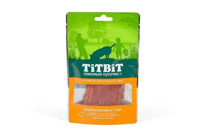 Джерки с витамином С и инулином для маленьких собак (Утка), TitBit - 50 г