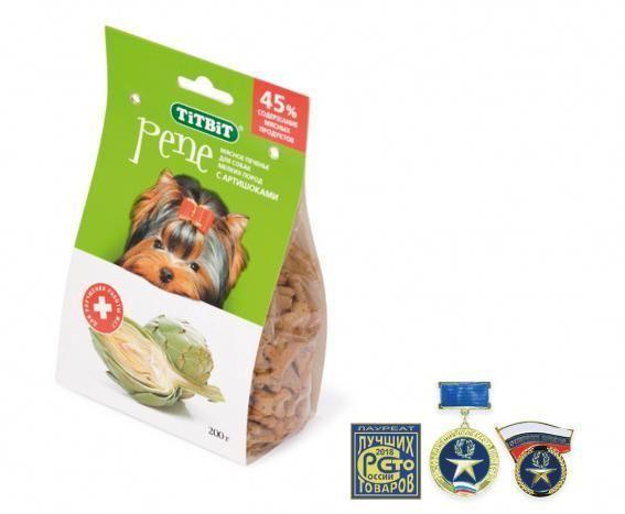 Печенье с артишоками PENE для собак, TitBit - 200 г
