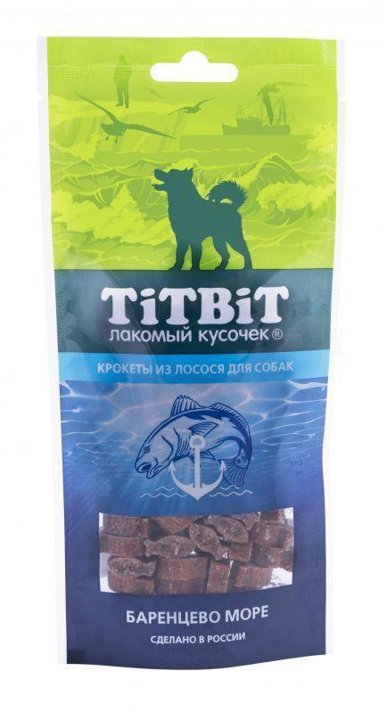 Крокеты из лосося для собак, TitBit - 75 г