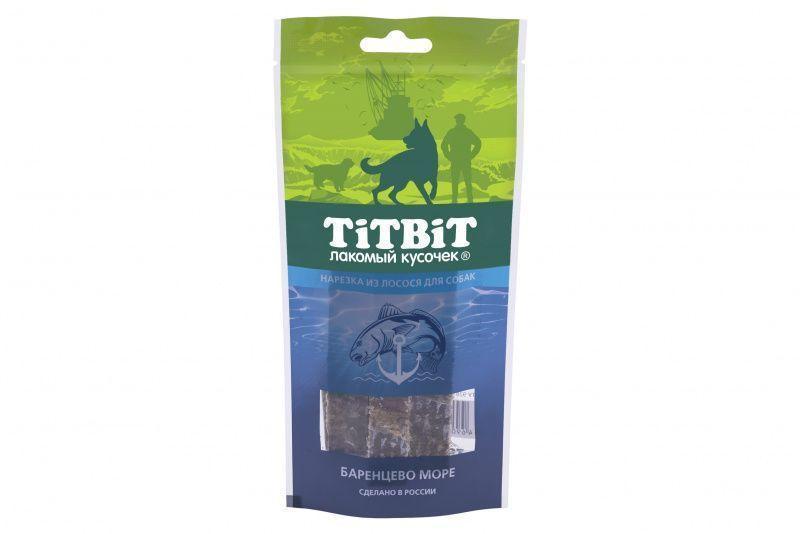 Нарезка из лосося для собак, TitBit - 75 г