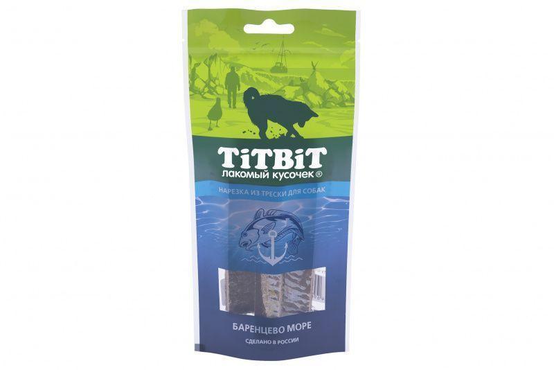 Нарезка из трески для собак, TitBit - 75 г