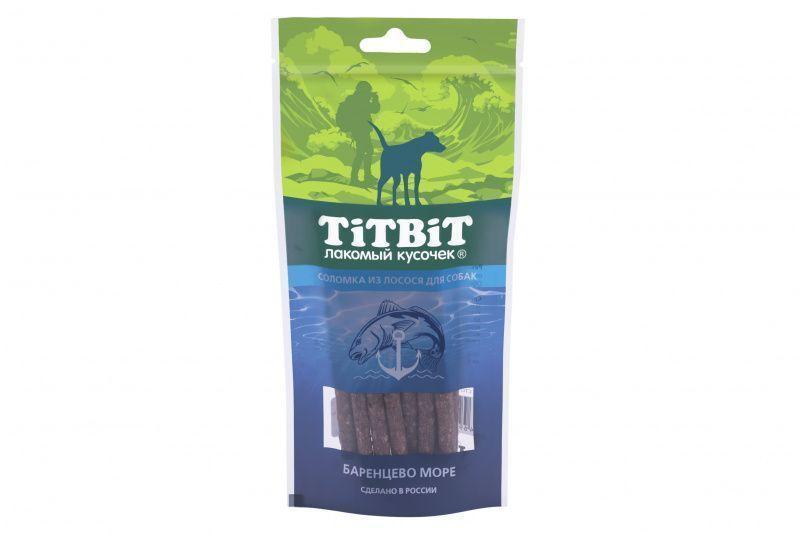 Соломка из лосося для собак, TitBit - 75 г