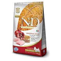 Низкозерновой корм Farmina N&D для собак, малых пород (Курица с Гранатом) - 800 г