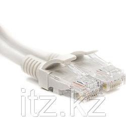 Патч-корд PowerPlant Cat5E UTP 1м, белый