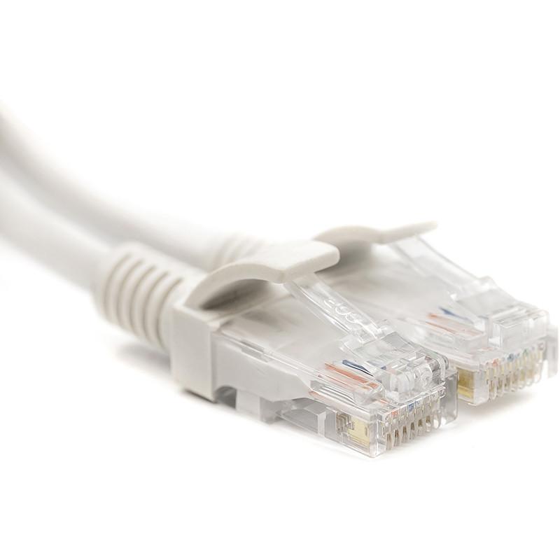Патч-корд PowerPlant Cat5E UTP 2м, белый