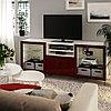 БЕСТО Тумба д/ТВ с ящиками, белый СЕЛЬСВ/СТАЛЛАРП, глянцевый темный красно-коричневый, 180x42x74 см