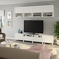 БЕСТО Шкаф для ТВ, комбинация, белый, ХАНВИКЕН/СТУББАРП белый, 240x42x230 см, фото 1