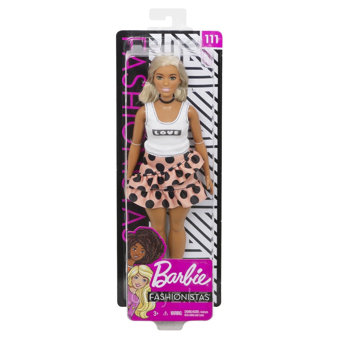 Barbie Игра с модой В юбке в горох и белом топе