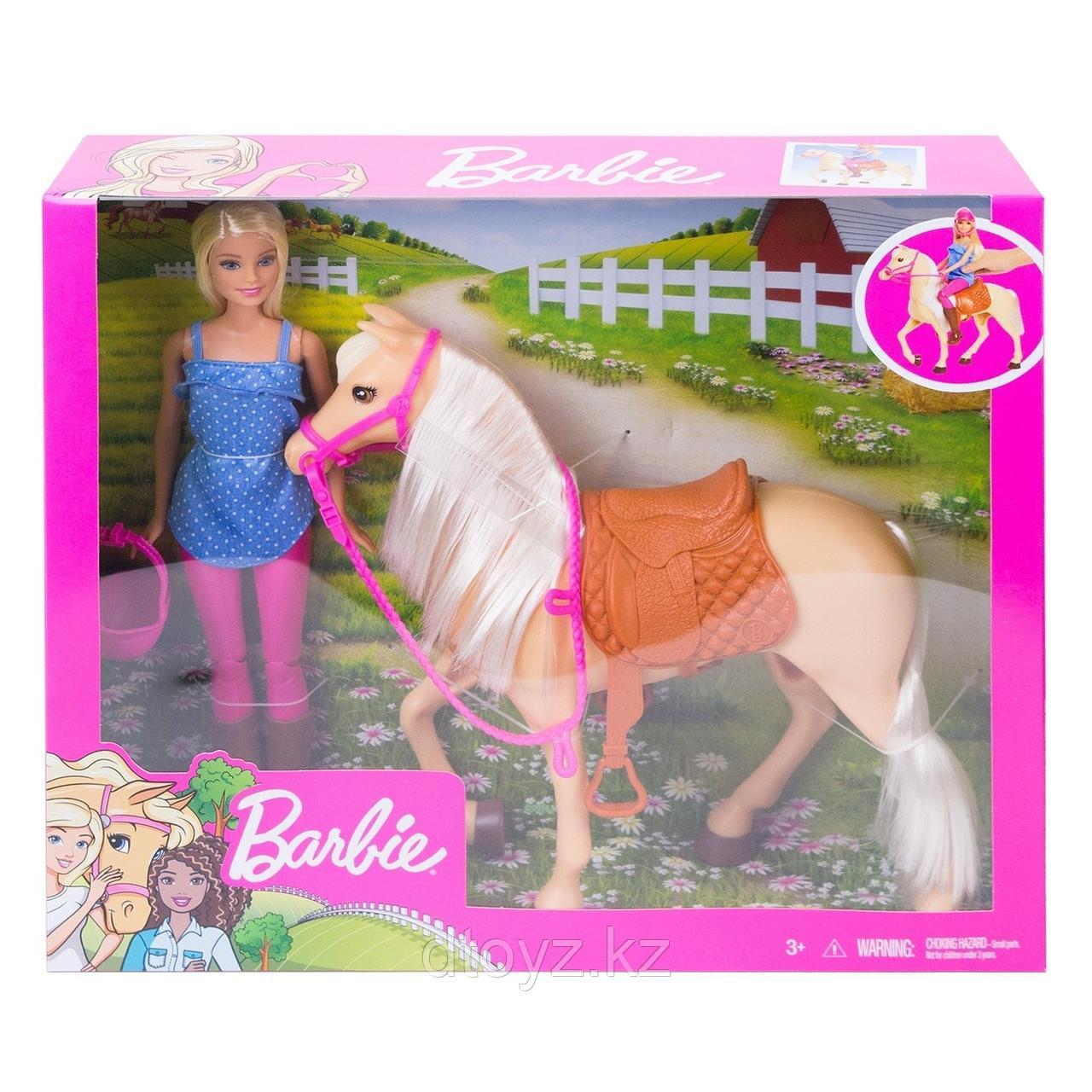Barbie-наездница и лошадь