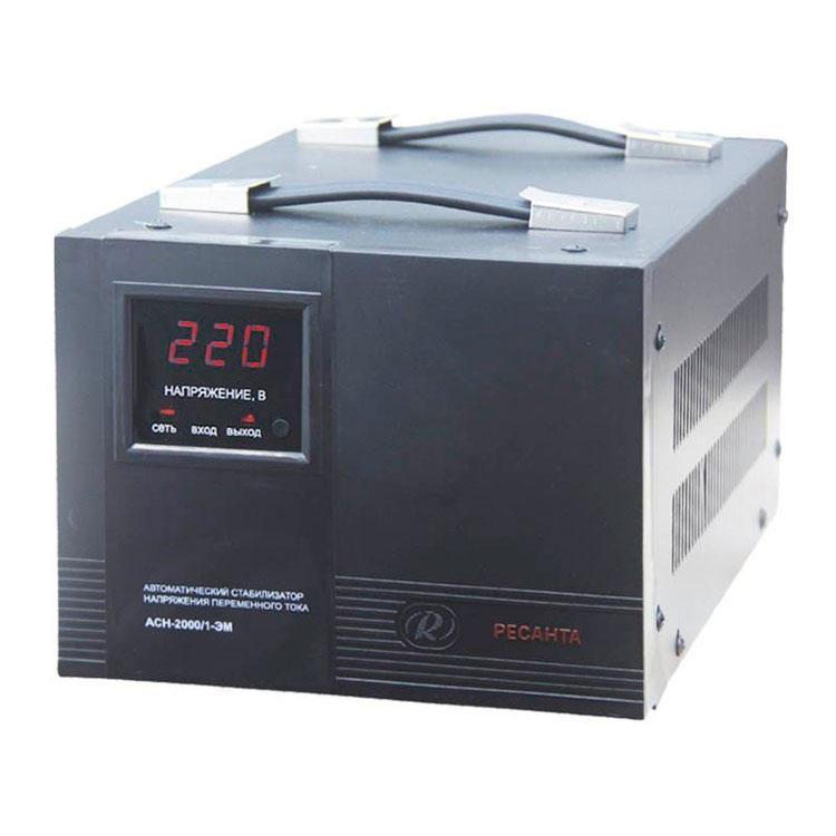 Стабилизатор напряжения РЕСАНТА АСН-2000/1-ЭМ 2 кВт Однофазный электромеханический