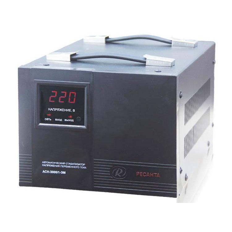 Стабилизатор напряжения РЕСАНТА АСН-3000/1-ЭМ 3 кВт Однофазный электромеханический
