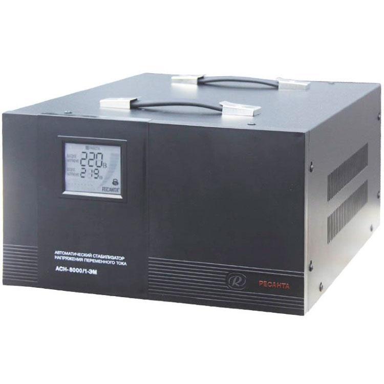 Стабилизатор напряжения РЕСАНТА АСН-8000/1-ЭМ 8 кВт Однофазный электромеханический