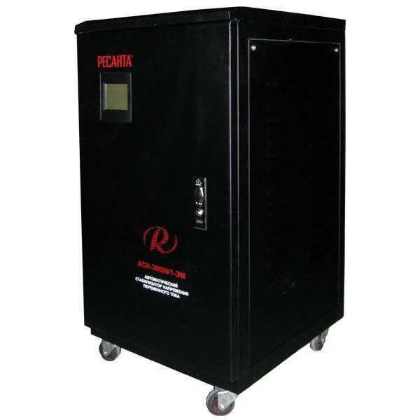 Стабилизатор напряжения РЕСАНТА АСН-30000/1-ЭМ 30 кВт Однофазный электромеханический