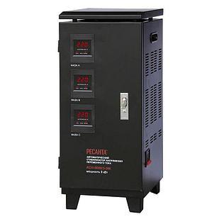 Стабилизатор напряжения РЕСАНТА АСН-9000/3-ЭМ 9 кВт Трехфазный электромеханический