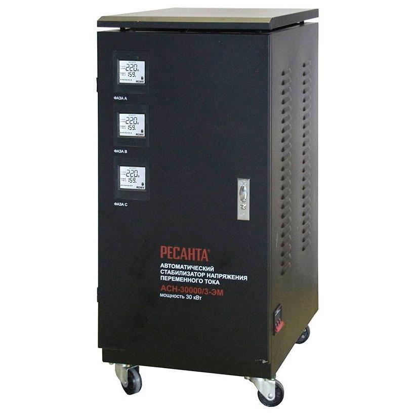 Стабилизатор напряжения РЕСАНТА АСН-30000/3-ЭМ 30 кВт Трехфазный электромеханический