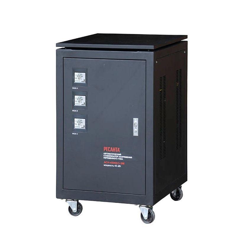 Стабилизатор напряжения РЕСАНТА АСН-45000/3-ЭМ 45 кВт Трехфазный электромеханический