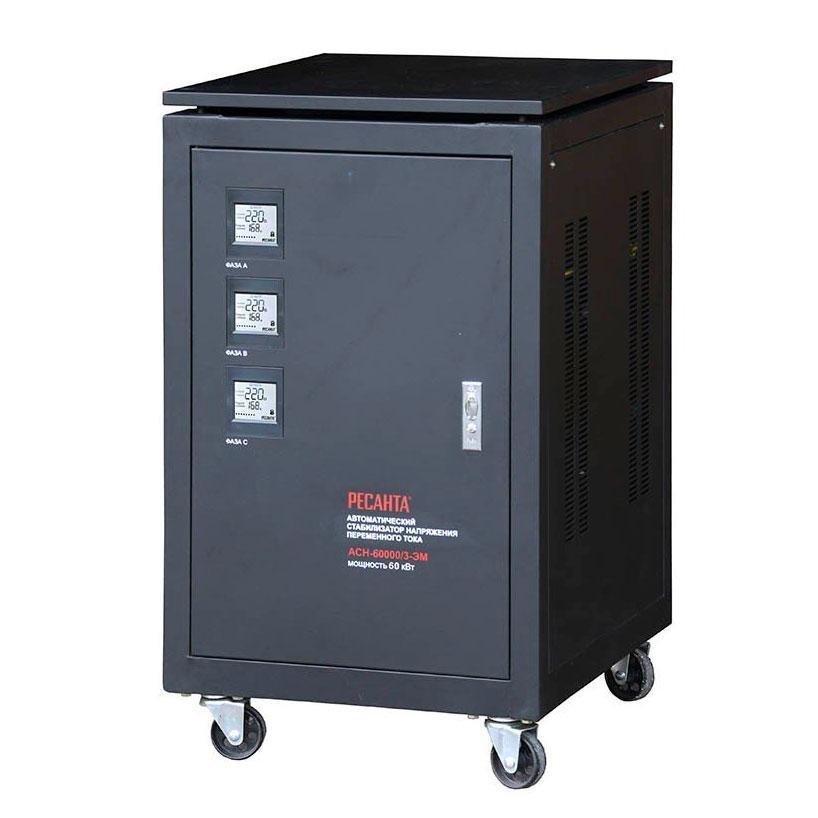 Стабилизатор напряжения РЕСАНТА АСН-60000/3-ЭМ 60 кВт Трехфазный электромеханический
