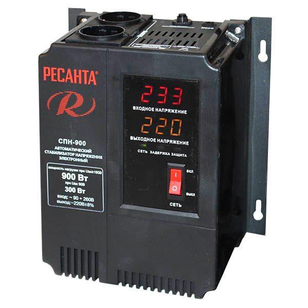 Стабилизатор пониженного напряжения РЕСАНТА СПН-900 0,9 кВт Однофазный, Релейный
