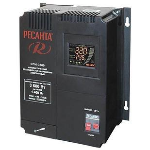 Стабилизатор пониженного напряжения РЕСАНТА СПН-3600 3,6 кВт Однофазный, Релейный