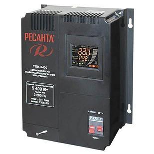 Стабилизатор пониженного напряжения РЕСАНТА СПН-5400 5,4 кВт Однофазный, Релейный